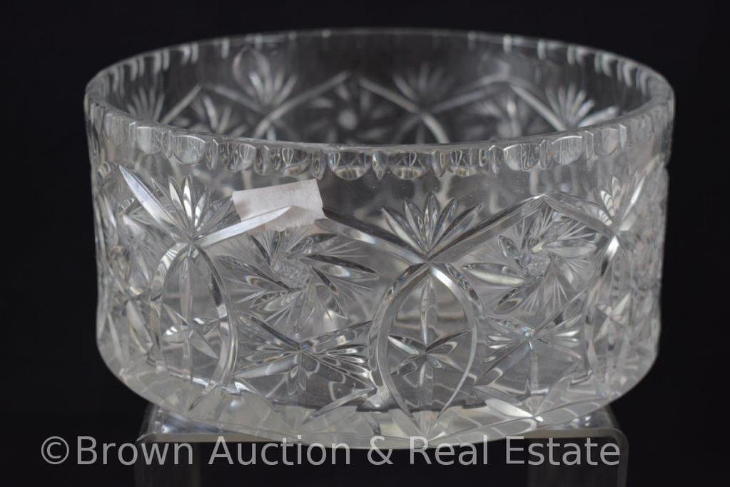 "Crystal 3.75""h x 7.5"" round dia. bowl"