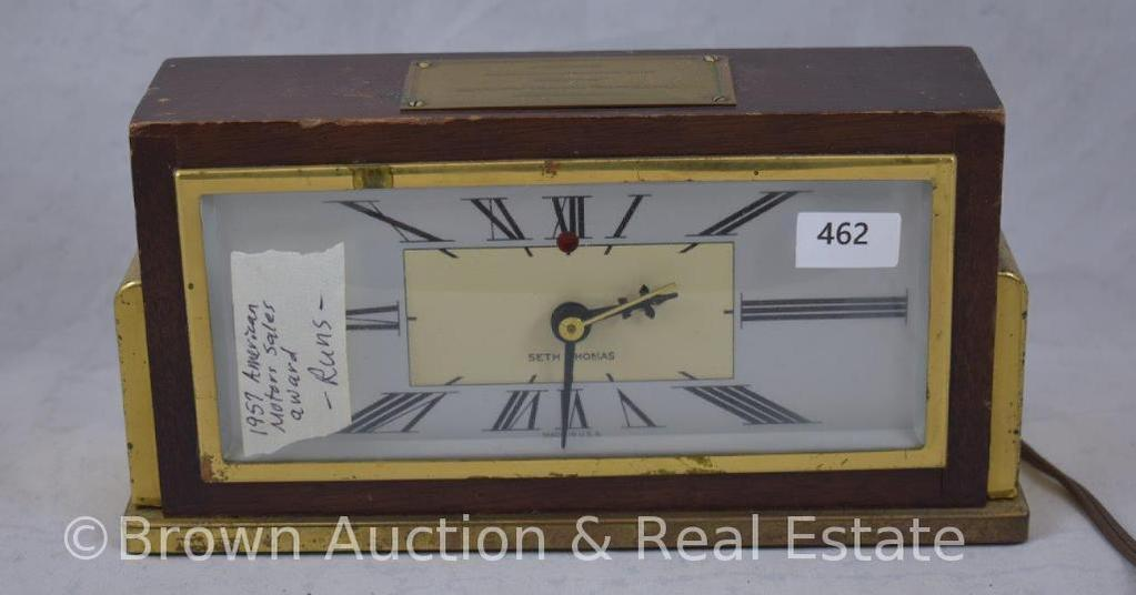 1957 Anmerican Motors sales award elec. Clock