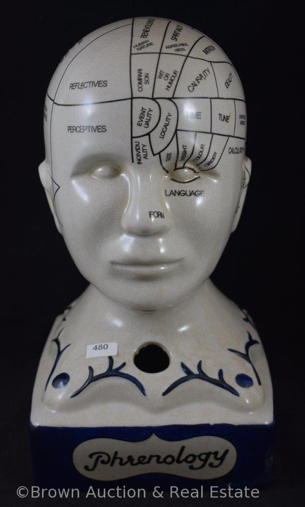 """Phrenology"" (Science of the Brain) head, 13"" tall"