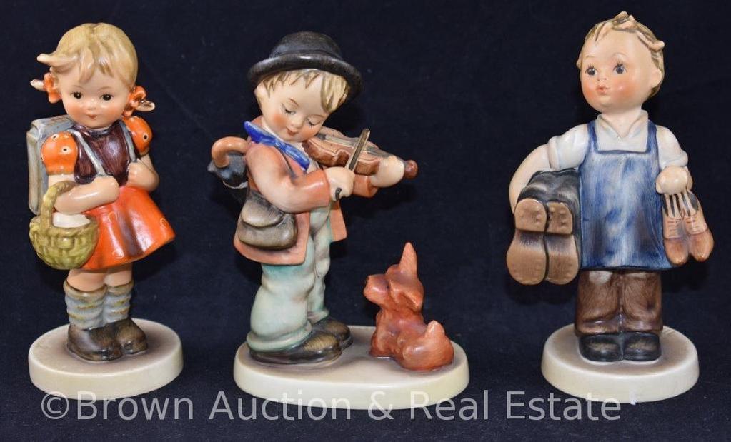"""(3) Hummel figurines, 5"""" tall, 60's marks"""