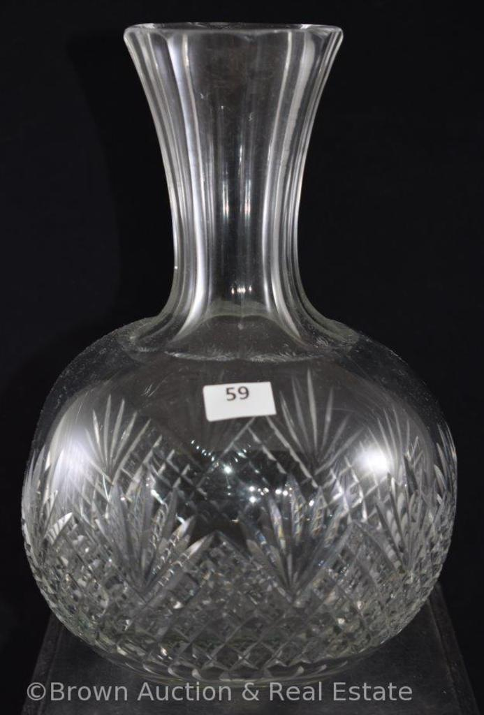 "Pressed Glass 8.5"" water carafe"