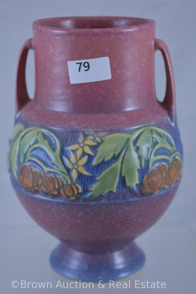 """Roseville Baneda 589-6"""" vase, pink"""