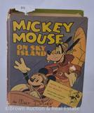 Whitman publishing Mickey Mouse on Sky Island #1417 Big Little Book