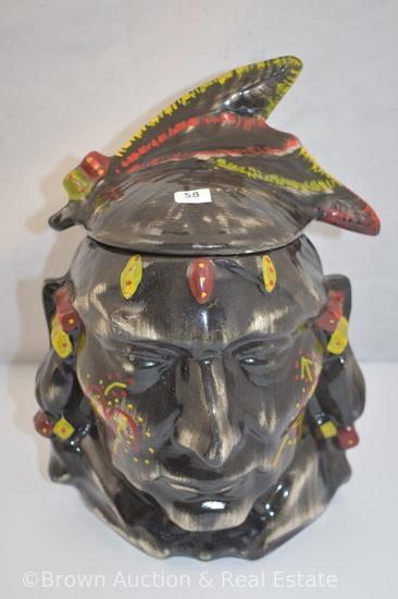 Mrkd. McCoy Native American head cookie jar