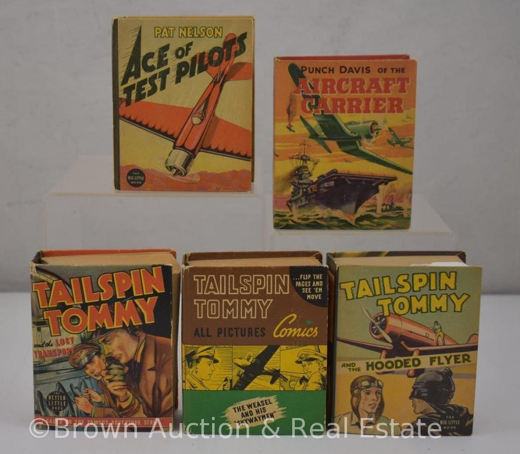 (5) Aviation/Military themed Big Little Books