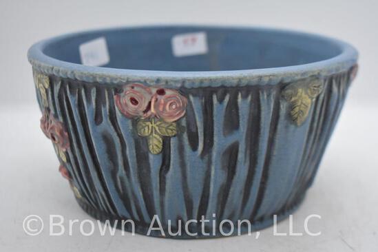 """Mrkd. Weller Blue Drapery 3.5""""h bowl"""