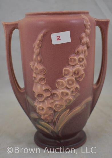 "Roseville Foxglove 45-7"" vase, pink"