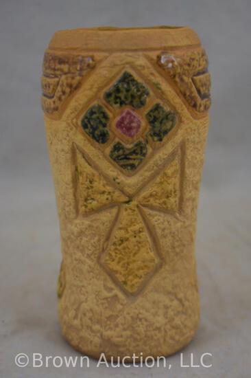 """Roseville Mostique 5-6"""" vase, brown"""