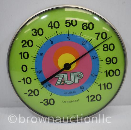 7-Up round advertising thermometer