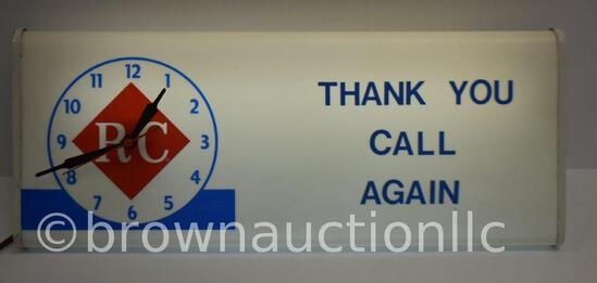 RC Cola ight-up advertising clock - lghts up and works