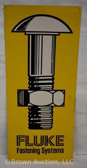 Fluke Fastening Systems single sided tin sign