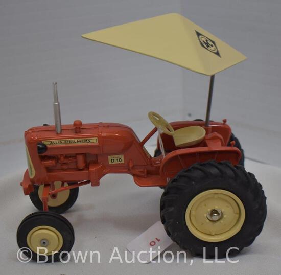 Allis-Chalmers D10 die-cast metal tractor w/umbrella