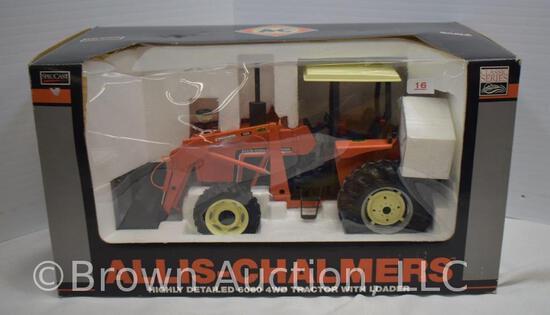 Allis-Chalmers highly detailed 6060 4WD die-cast metal tractor w/loader