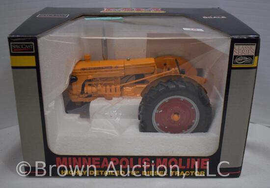"""Minneapolis-Moline highly detailed """"U"""" diesel die-cast metal tractor"""