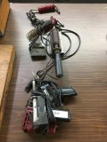 Assorted soldering guns in irons