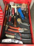 Assorted knives ,scissors, etc