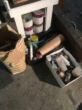 Assorted painting supplies,etc