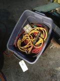 Assorted extension & Electrical cords, hammer