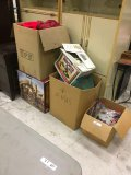Assorted Christmas decorations, Kirkland Nativity & box of party items