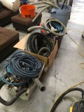 Lot of assorted hoses, & cleaning parts
