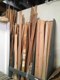 Assorted wood trim with rack