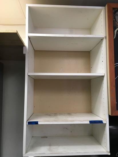 Wall Shelf, White Laminate, 4 Tier, 26 in. wide x 16 in. deep x 48 in. tall