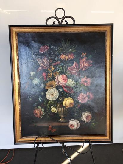 Floral on canvas