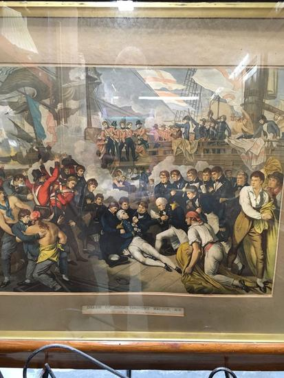 Death of Lord Viscount Nelson, K.B., at the Battle of Trafalgar