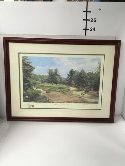 Print, Pine Valley Golf Club, Tenth Hole, by A. Weaver, 1994