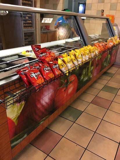 Wire display racks. Bags of chips not included. See pics for the other two racks