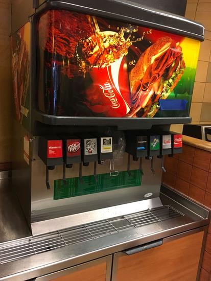 Cornelius 8 head drink dispenser and ice dispenser, Model ED250-BCZ , ice machine not included