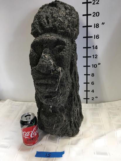 Carved lava stone