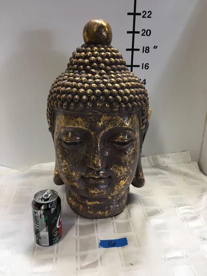 Large Vintage Buda Head statue
