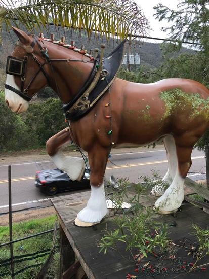 Beautiful Full Size Clydesdale Horse Statue