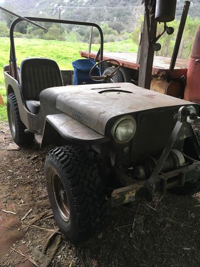 1940's Willys Jeep - SOLD ON BOS - MOTOR RUNS - Calif. DMV has no record for this vehicle