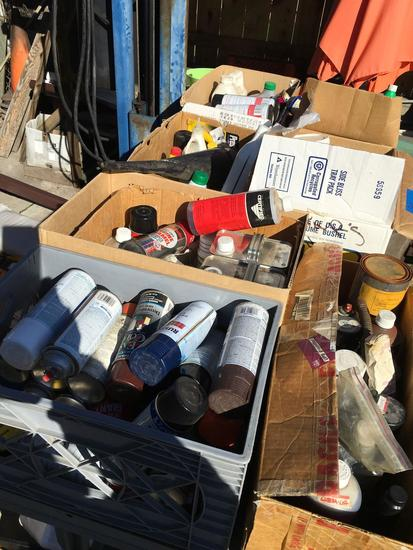 Mixed lot of Oil, Paint and Automotive chemicals and Lubricants