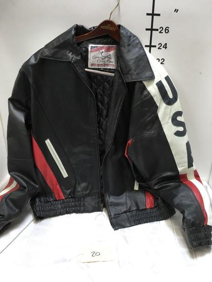 Leather Jacket Size XL Caribou Creek USA