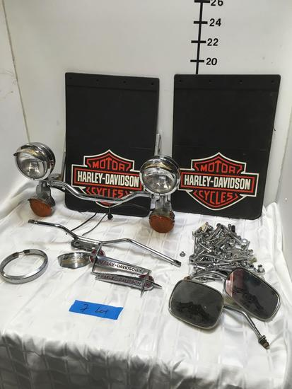 Harley Davidson Signal Light Assembly, Emblems, Chrome Nuts & Bolts, Mirrors & Accessories