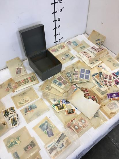 Stamp collection. 100s of stamps. See ALL the pics