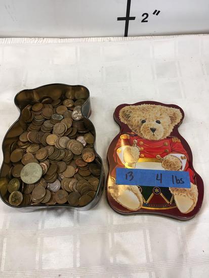 4 lbs, pennies