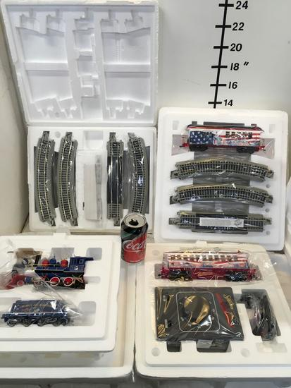 Collectible. Hawthorne Village Freedom Of America train sets. Total of 4 different sets