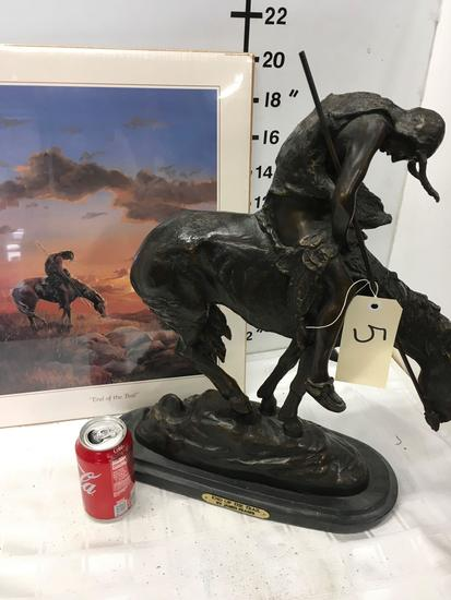 """""""End Of The Trail"""" by James Fraser Large Bronze Sculpture"""