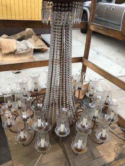 "Very Large Crystal Chandelier 48"" T x 42"" W"