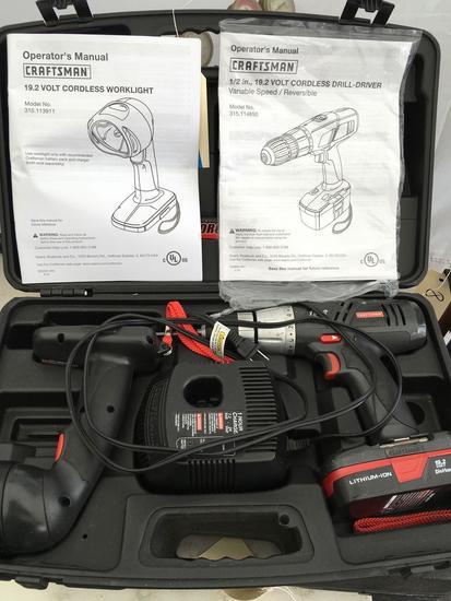 Craftsman 19.2 volt Cordless Worklight & 1/2 in. 19.2 volt Cordless Drill Driver