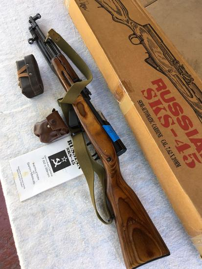 KBI Russian SKS-45 semi automatic carbine cal 7.62x39mm, Serial # HO5201 and accesories see pics