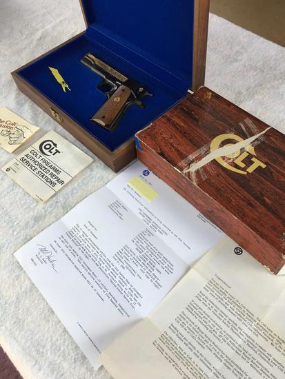 Colt 1911 USMC Limited Edition w case/key. Serial #12344B70 Off Roster, Not for sale in California