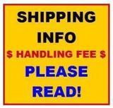***SHIPPING INFORMATION!! DO NOT BID ON THIS ITEM.