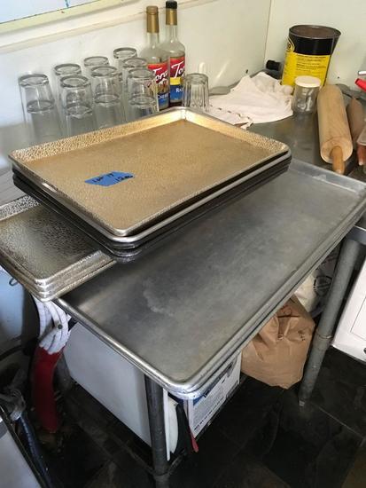 Assorted miscellaneous sheet pans, 12 pieces