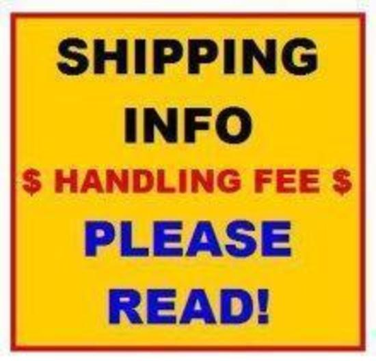 **SHIPPING INFORMATION** SEE OPTIONS IN TERMS OF SALE
