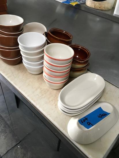 Assorted side bowls